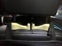 鐵摩圖  車載汽車掛鉤支架 創意多功能置物后排座椅背LED燈掛鉤支架二合一 米色 實拍圖