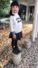 嚕比貝貝女童靴子春秋冬季兒童馬丁靴2019新款男童鞋子真皮單靴加絨短靴 黑色光滑面(加絨款) 26碼/內長16.7/適合腳長15.7 實拍圖