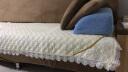 青葦 法萊絨 防滑沙發坐墊 玫瑰款 米色90*90 實拍圖