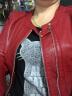 靚淑皮衣女2019春秋裝新款女裝韓版修身短款皮衣PU皮短外套女 紅色 L 實拍圖