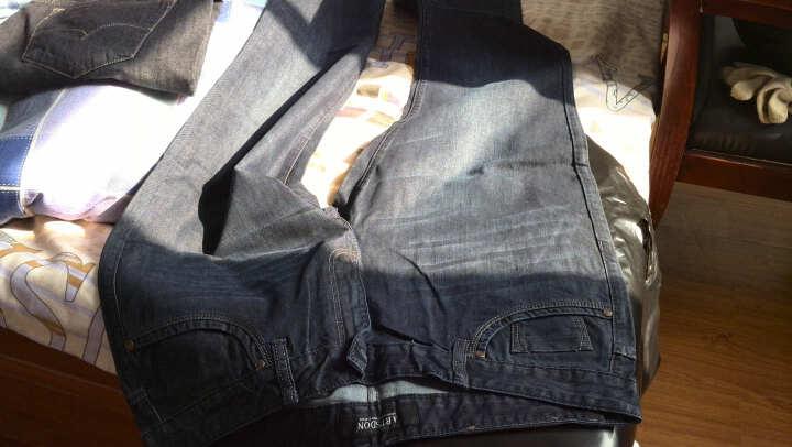 阿仕顿秋季新款纯棉直筒休闲牛仔裤a12121143-115