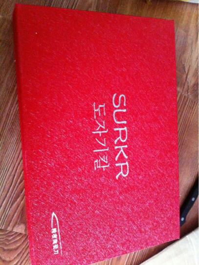 SURKR韩国进口陶瓷刀韩式刀具厨房用品套刀 菜刀 水果刀 刮皮刀3件套 多种 E款 晒单图