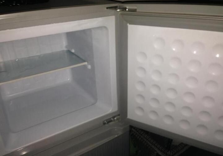 金松(JINSONG)116升双门冷藏冷冻迷你小冰箱 节能家用冰箱 小型 BCD-116(拉丝银) 晒单图