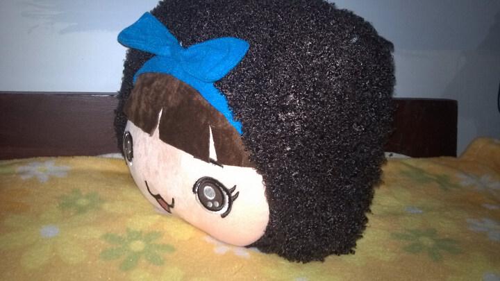 咔噜噜 毛绒玩具摩斯娃娃抱枕空调被子靠垫靠枕两用被子 绿色 145*92cm 晒单图