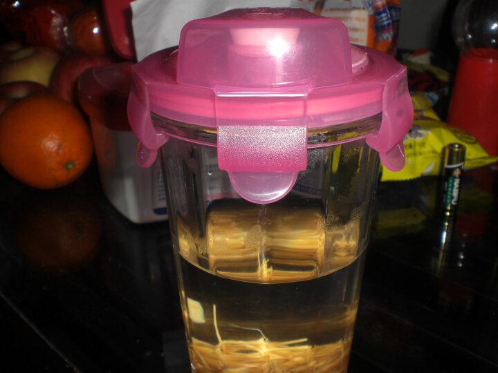 三光云彩 钢化耐热玻璃杯 水杯 杯子茶杯 茶具 500ml 橙色+手提带+隔热杯套 晒单图
