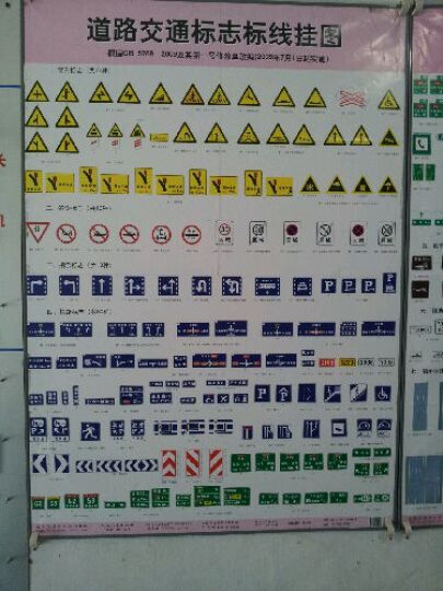 道路交通标志标线挂图(共4张) 晒单图