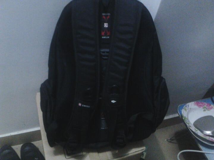 swisswin瑞士十字涤纶时尚双肩背包sw8563黑色--材料