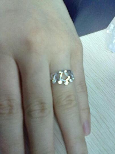 蓝色思维 S925银戒指女 时尚皇冠男女戒指王子变青蛙戒指 R0064 开口可调节10号到15号 晒单图
