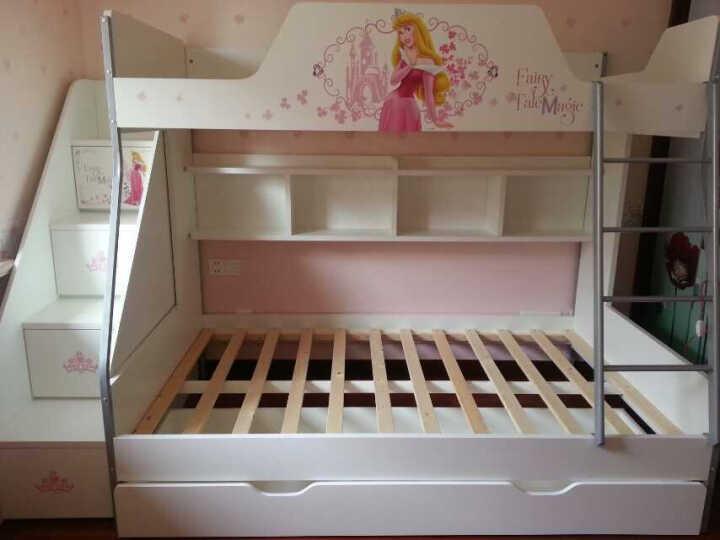 迪士尼高低床 上下床双层床上下铺 环保上下床双层床 米奇黑骑士【上下床+挂梯】 仅1.35米高低床 晒单图