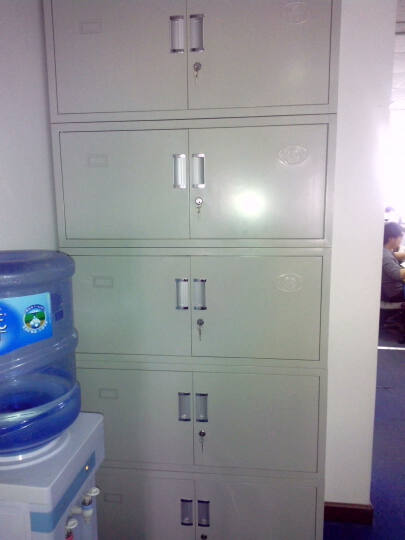 肖瑞文件柜系列-扣手五节文件柜 办公文件柜 钢制文件柜 铁皮柜 资料柜 晒单图
