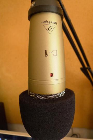 百灵达(Behringer) C-1 电容话筒(极高的灵敏度与精确度优良的传感器与镀金XLR输出/个人演唱录音直播用) 晒单图