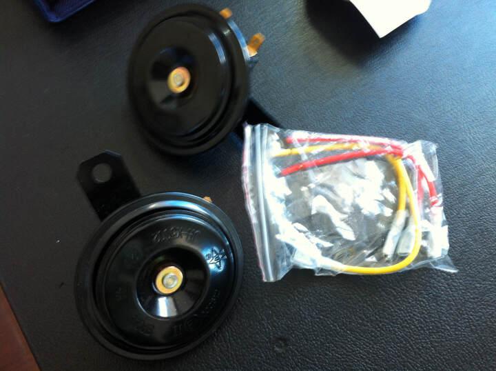 箭冠牌(ARROW)汽车电喇叭12V超响高低音防水鸣笛盆形喇叭 防水通用 对装 电子蜗牛喇叭JH-V501 晒单图