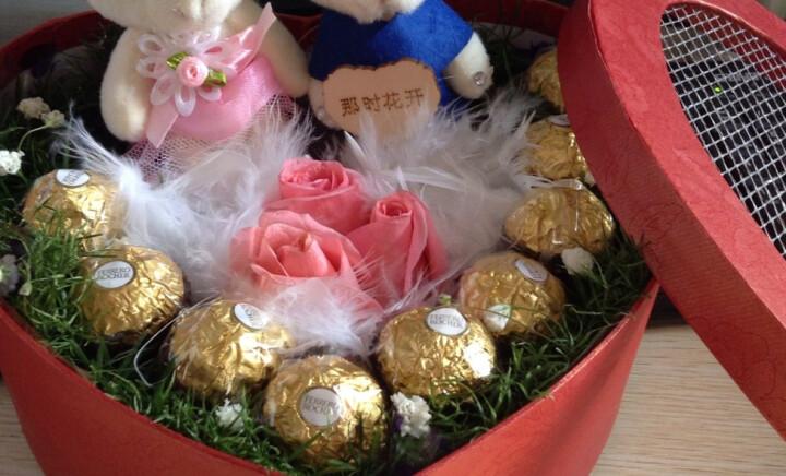 缘梦鲜花速递9枝粉玫瑰加巧克力加小熊礼盒装520鲜花生日鲜花送女友爱人春节同城送花 9朵红玫+9巧克力+1熊 平时配送 晒单图