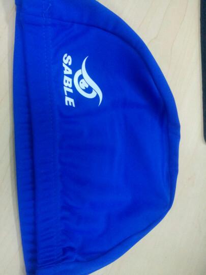 黑貂SABLE莱卡布游泳帽子 柔软舒适长发护耳男女立体设计SCN 蓝色 晒单图
