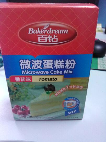 百钻微波蛋糕预拌粉200g小麦粉烘焙原料奶香草莓番茄水蜜桃 草莓味 晒单图