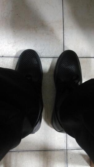 [晒单帖]米斯康夏季镂空男式真皮凉鞋英伦男士透气