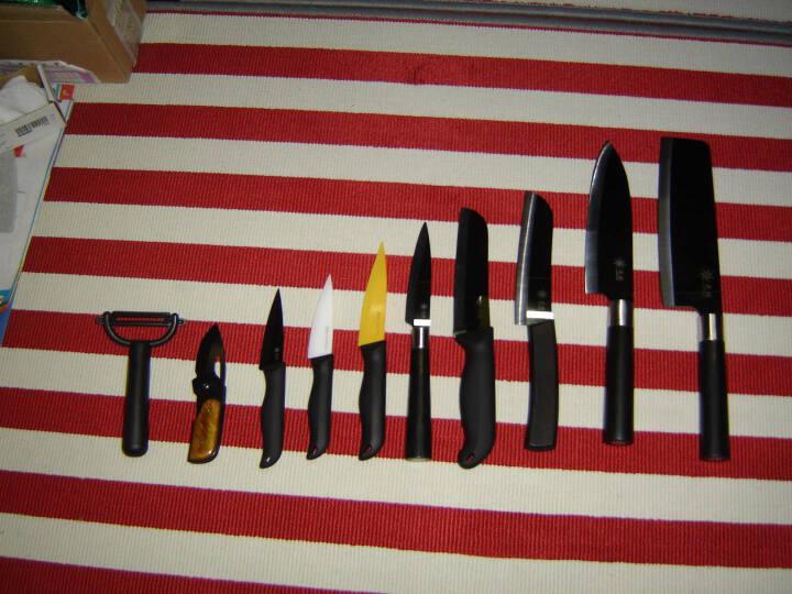 七鲤(CHINICERA) 七鲤CHINICERA陶瓷刀/锆瓷刀 精刃黑镜面7寸中式菜刀 晒单图