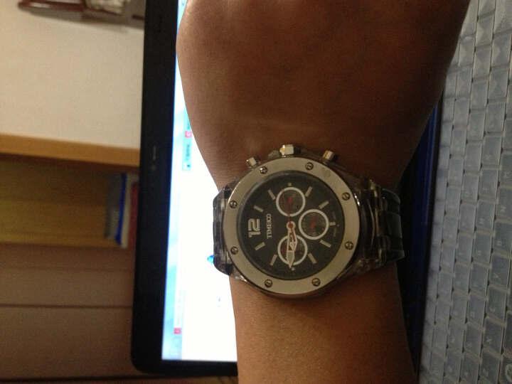 【情侣】时光一百(TIME100) 石英手表 时尚多功能原瑞士机芯石英防水手表 白色女款 晒单图