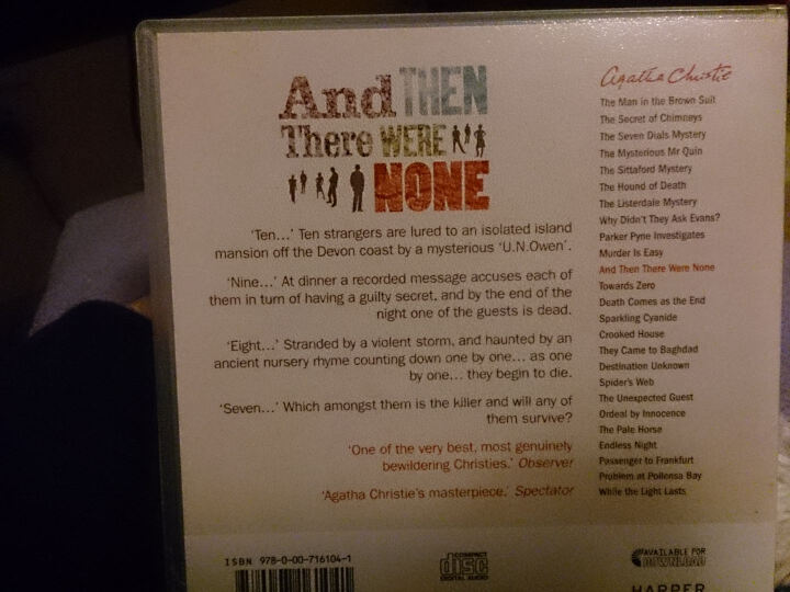 And Then There Were None [Audio CD][无人生还CD] 晒单图