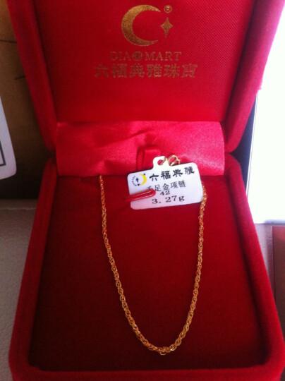 六福典雅珠宝 黄金项链 999足金女士结婚项链 女士绞丝项链 约3.4-3.5克 晒单图