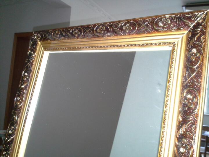 伯仑 欧式实木穿衣镜 全身 落地 全身镜试衣镜 壁挂 咖啡金色 (带支架)50cm*150cm 晒单图