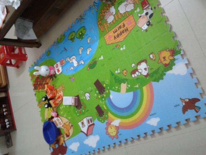 乐扣垫(开心农场)婴儿爬行垫地垫/宝宝爬爬垫/拼图2CM 晒单图