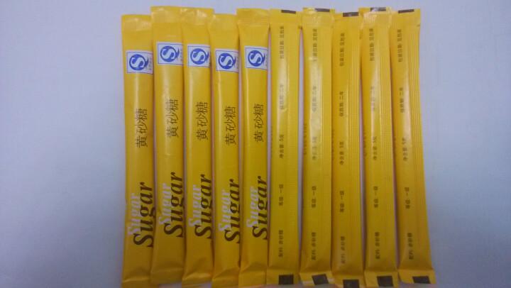 【买三送一】五彩糖包 咖啡调味糖包 咖啡好伴侣白砂糖 奶茶甜品咖啡辅料5g*50条 黄糖包黄色 晒单图