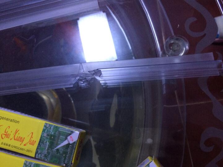 赣春F型防水条无框阳台窗户密封条 淋浴房卫浴玻璃门防风隔音条 F型防水条1.4米长8mm厚 晒单图