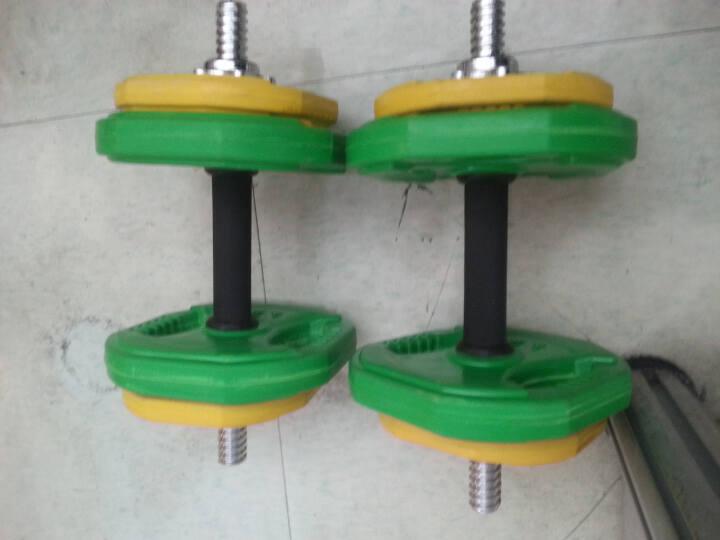 诚悦铸铁哑铃杠铃17kg(8.5公斤*2)男女士体育运动健身器材家用组合套装 晒单图