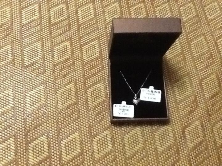 六福典雅珠宝 PT950吊坠 铂金吊坠 白金项链项坠 心 结婚项坠1.2-1.3克 晒单图