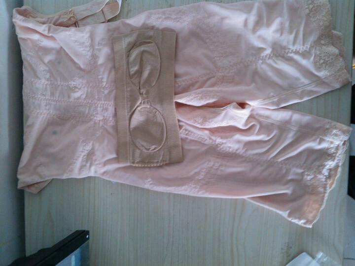 纤慕连体塑身衣产后塑形收腹提臀美体衣女士瘦身美体衣前排扣可调节腰带式瘦身衣 黑色 三角裤 98/4XL 145-160斤 晒单图