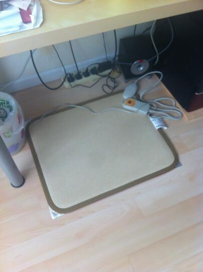 问暖碳晶移动地暖垫取暖器 韩国便携电热地毯 办公室移动暖脚垫 电热垫电地暖 高温速热电热板60*50 LG081 晒单图