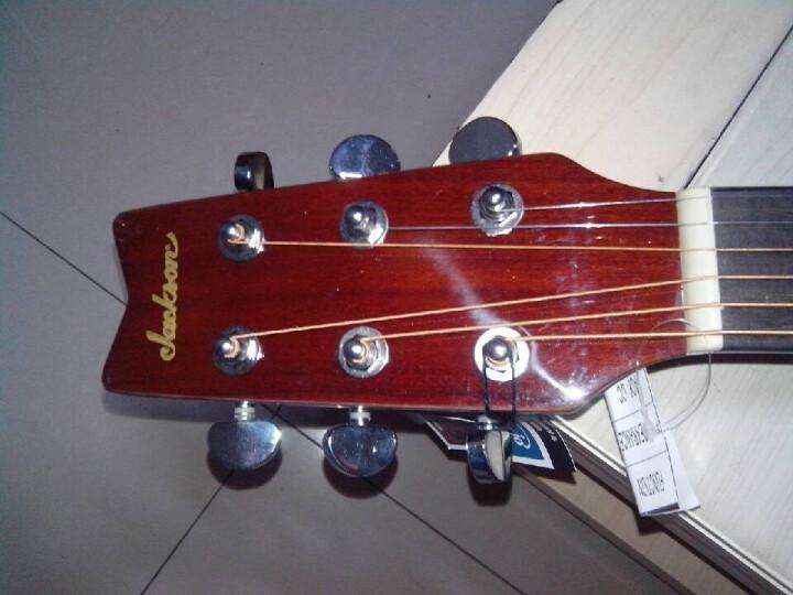 Jackson 六弦民谣木吉他 木色六弦圆角吉他 六弦吉他箱琴 六弦琴 六弦木吉他  D-9 送教材 晒单图