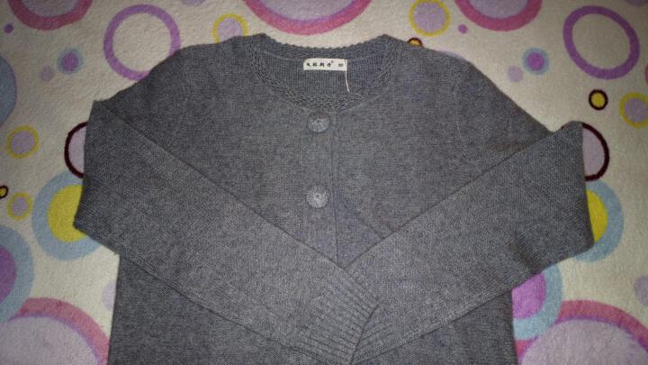 戈林斯丹 秋冬 新款时尚手钩领加厚开衫 100%纯羊绒AHGW01046 灰色 90/S 晒单图
