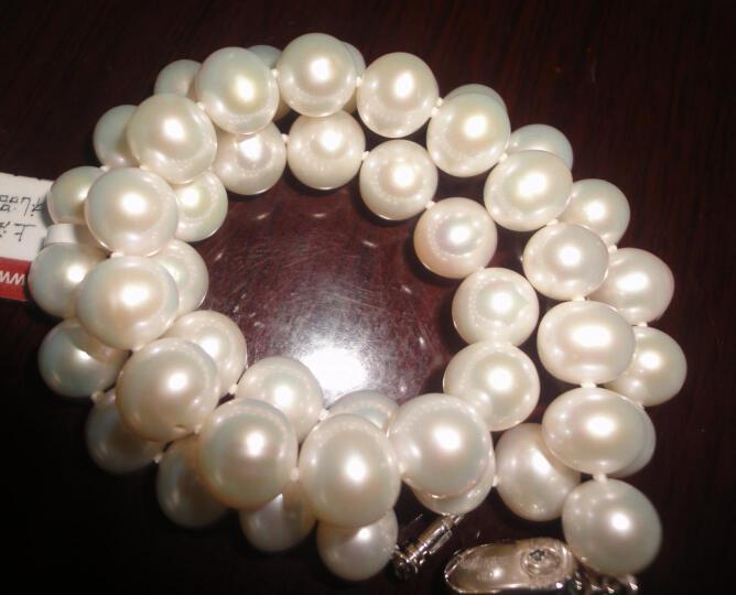 珠韵首饰 淡水珍珠项链近圆白色女款 圆润光泽强 送妈妈礼物 妃暄款 粉紫色 45cm 晒单图