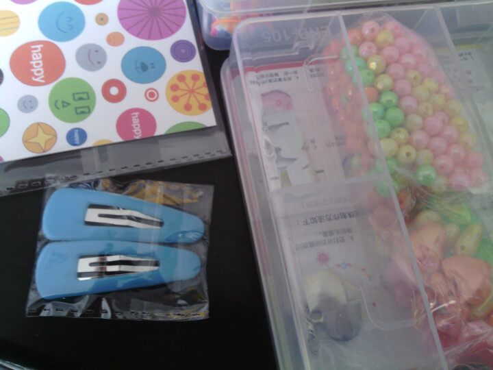 库摩(CYMO) 儿童串珠玩具女孩礼物DIY手工炫彩球珠套装 可穿项链手链-3款可选 陶泥系列 晒单图