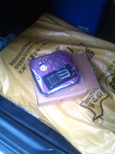 BUBM英伦风专业DJ碟包可爱高品质车载CD包DJ碟包CD收纳32片盒 方形 黄色 晒单图