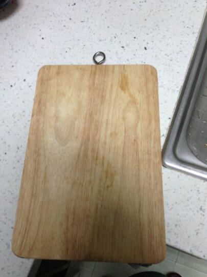 宝丽雅优质进口橡胶实木砧板30x20橡胶木切菜板-36230 晒单图