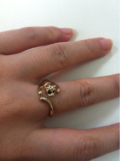 戒指 猫咪 qq 可爱/↑图:法国IDee艺术首饰猫咪戒指可爱精灵之舞芭蕾