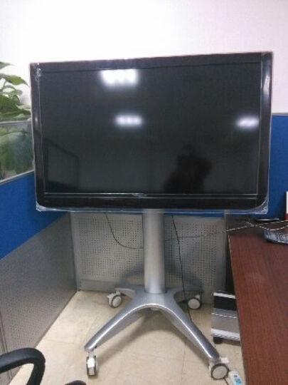 卡步特 电视架 电视挂架 移动推车 视屏会议展示架 落地支架 T001银色双托32-65英寸 晒单图