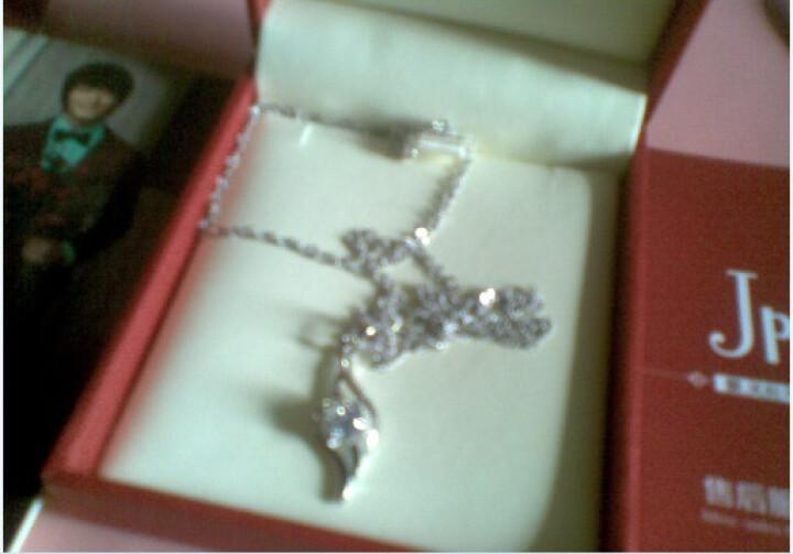 Jpf 925银项链女银饰品女款吊坠韩版女士首饰品 生日礼物送女友礼物 JD001 天使羽翼4206 晒单图