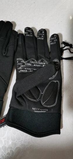 NE&CE 触屏硅胶秋冬季骑行手套全指 山地车手套长指男女 自行车手套骑行装备骑车手套 NE2长指手套(黑) m 晒单图