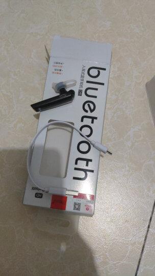 毕亚兹 蓝牙耳机耳挂式 迷你商务智能蓝牙4.1立体声音乐耳机华为/oppo/小米/苹果手机通用 D15黑色 晒单图