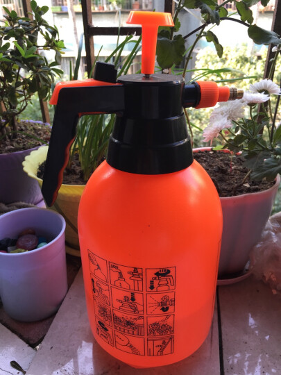 农宝 花卉植物浇水壶 浇花洒水壶 园艺浇灌水壶 家居家用洒水壶 气压喷壶 2.0L加厚喷壶 橙色 晒单图
