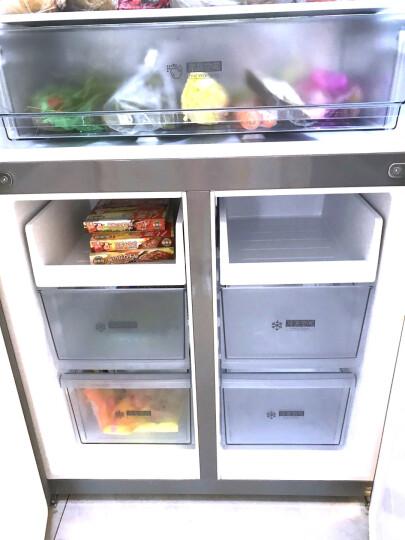 美的(Midea)468升 十字对开门家用冰箱 四开门风冷无霜 双变频 抗菌保鲜 双系统制冷节能静音BCD-468WTPM(E) 晒单图