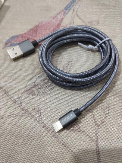 ROCK 苹果数据线 金属编织快充手机充电器线 支持iPhone11Pro/新SE/XS/XR/8Plus/7/6s/5s/iPad 1.8米 星空灰 晒单图