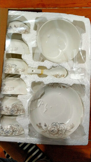 泥火匠餐具套装陶瓷碗碟套装金韵20头碗盘碟微波炉适用 晒单图