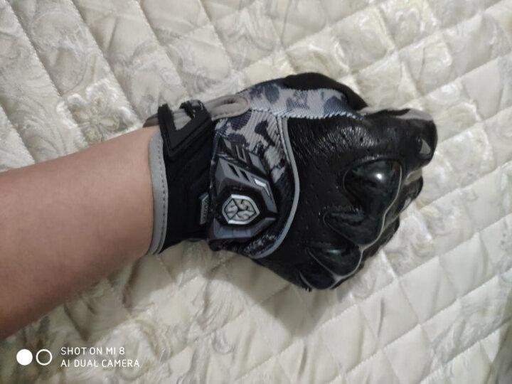 赛羽SCOYCO摩托车手套夏季透气骑行机车手套骑士防摔手套羊皮赛车摩旅骑行装备 MX49(灰色)360度透气 L 晒单图