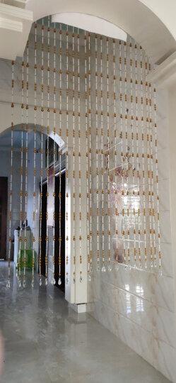 洛曼斯(LOMANSI) 水晶珠帘葫芦珠子成品水晶隔断挂帘 门帘 窗帘屏风门帘子客厅玄关 定做一米一条拍前联系客服 晒单图