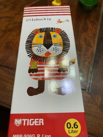 Tiger/虎牌儿童保温杯不锈钢真空学生水壶 MBJ长颈鹿CG(杯盖款) 晒单图